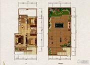 大理山水间(三期)2室2厅1卫82平方米户型图