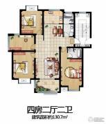 太和名苑4室2厅2卫130平方米户型图