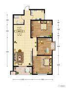 华建新城3室2厅1卫117平方米户型图