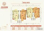逸景新城3室2厅2卫126平方米户型图