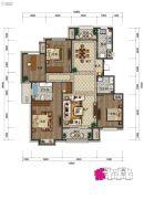 中湖・珐琅印4室2厅2卫0平方米户型图