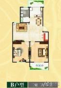 富邦・万得园2室2厅1卫93平方米户型图