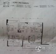 北麓国际城3室2厅2卫87平方米户型图