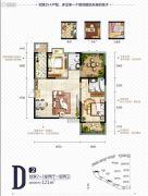 中国铁建国际城2室2厅2卫121平方米户型图