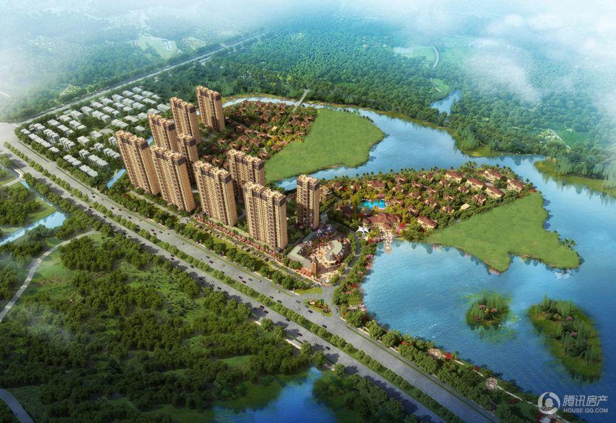 碧桂园滨湖城鸟瞰图