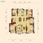 金地檀府4室2厅2卫153平方米户型图
