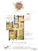 梧桐香郡3室2厅1卫88平方米户型图