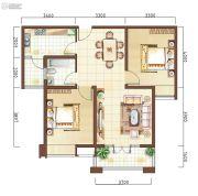上海公馆2室2厅1卫89平方米户型图