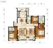 保利融信大国�Z4室2厅3卫165平方米户型图