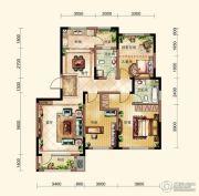 晟鑫康诗丹郡3室2厅2卫127平方米户型图