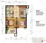 美的鹭湖森林度假区2室1厅2卫60平方米户型图