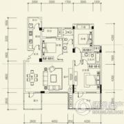 泰然南湖玫瑰湾3室2厅2卫118平方米户型图