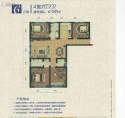 天鹅湖小镇・东区4室2厅2卫185平方米户型图