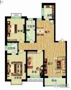 燕西台3室2厅2卫132平方米户型图