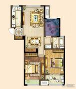 港龙新港城2室2厅1卫105平方米户型图