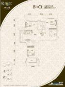 山海景湾3室2厅2卫118平方米户型图