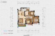 希望・玫瑰园3室2厅1卫87平方米户型图