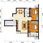 宏府・麒麟山2室2厅1卫93平方米户型图
