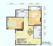滨海新城2室1厅1卫70平方米户型图