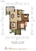 富力湾2室2厅1卫62--68平方米户型图