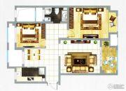 融信新新家园2室2厅1卫108平方米户型图