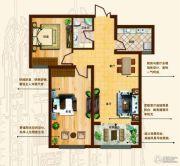 奥北公元2室1厅1卫80平方米户型图