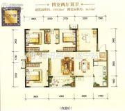 遂宁天鹅湖4室2厅2卫109平方米户型图