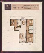 善上居3室2厅2卫0平方米户型图