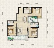 翱达公馆3室3厅3卫137平方米户型图