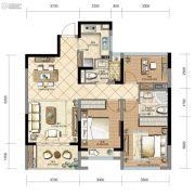 长龙・领航城3室2厅2卫0平方米户型图