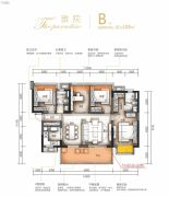 万科金域蓝湾4室2厅2卫108平方米户型图