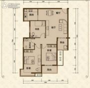 美尔雅・新西南国际花园3室2厅1卫109平方米户型图