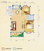 弘乐府・公园1号2室2厅1卫85平方米户型图