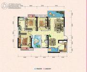 凯富南方鑫城3室2厅2卫115平方米户型图