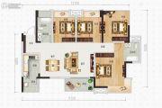 蜀鑫西TOWN4室2厅2卫112平方米户型图