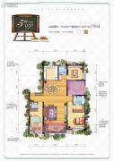 汉华城甜心广场4室2厅3卫176平方米户型图