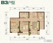 普天格兰绿都2室2厅1卫95平方米户型图