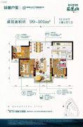 韶关碧桂园3室2厅2卫99--101平方米户型图