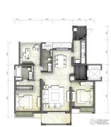 富力十号3室2厅2卫126平方米户型图