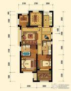 迎恩府2室2厅2卫89平方米户型图