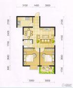 东城・华府2室2厅1卫75平方米户型图