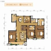 融创天朗南长安街壹号4室2厅2卫166平方米户型图