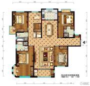 阳光城市・晶海园4室2厅3卫195平方米户型图
