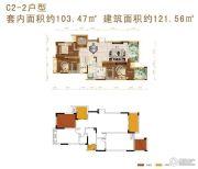 华宇天宫花城3室2厅2卫103平方米户型图