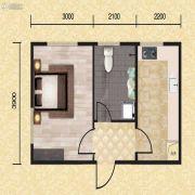 长堤湾1室1厅1卫36平方米户型图