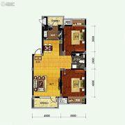 保利溪湖林语2室2厅1卫88平方米户型图