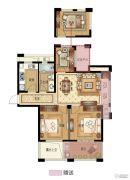 永成天御湾3室2厅1卫89平方米户型图