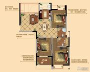 观山名筑3室2厅2卫110平方米户型图