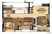 同润金色橘苑2室2厅1卫78平方米户型图