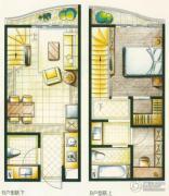 洱海国际生态城2室2厅2卫0平方米户型图